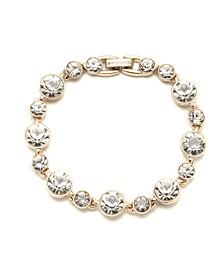 Silver-tone and Light Sapphire Crystal Flex Bracelet
