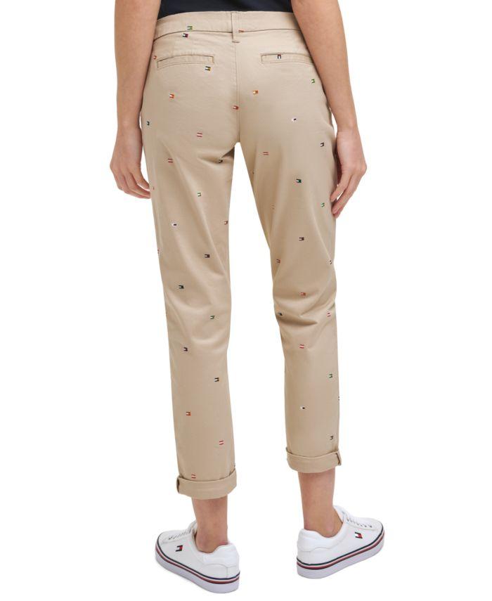 Tommy Hilfiger Hampton Embroidered Chino Pants & Reviews - Pants & Capris - Women - Macy's