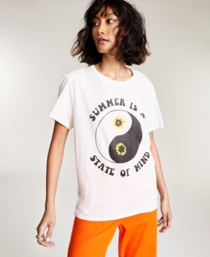 Cotton Summer State of Mind-Graphic T-Shirt