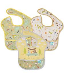 3-Pack SuperBib Waterproof Baby Bibs