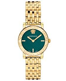 Women's Swiss Greca Glass Gold-Tone Stainless Steel Bracelet Watch 32mm