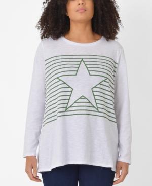 Plus Size Cotton Star Top