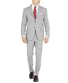 Men's Light Gray Modern-Fit Stretch Suit Separates