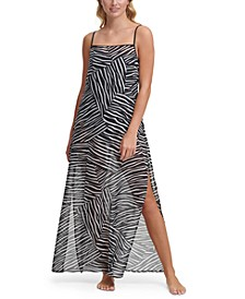 Printed Maxi Cover Up Dress