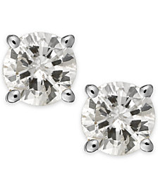 Diamond Stud Earrings (1/3 ct. t.w.) in 14k White or Yellow Gold