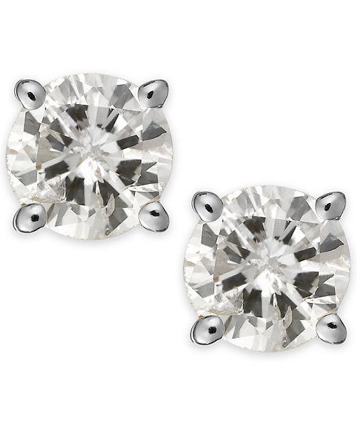Macy's Diamond Stud Earrings (1/3 ct. t.w.) in 14k White or Yellow Gold