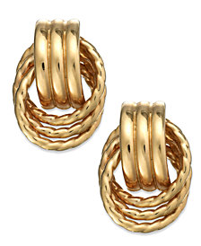 14k Gold Door Knocker Earrings