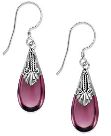 Jody Coyote Sterling Silver Purple Stone Drop Earrings