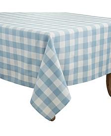 "Buffalo Plaid Design Cotton Blend Tablecloth, 70"" x 70"""