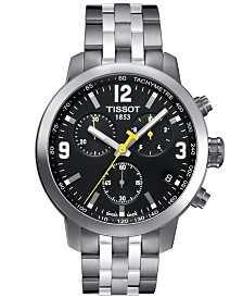 Tissot Men's Swiss Chronograph PRC 200 Stainless Steel Bracelet Watch 42mm T0554171105700