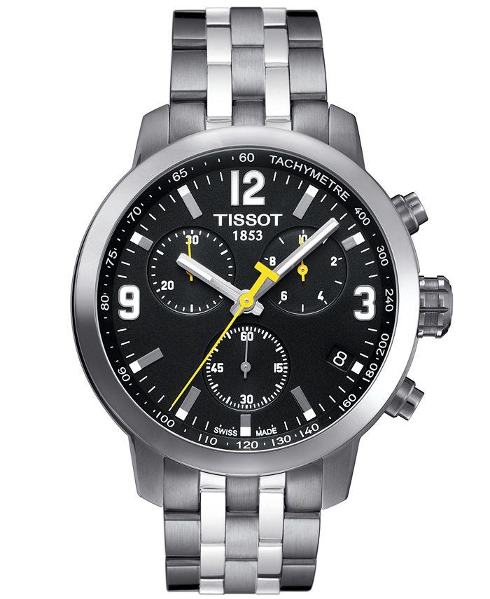 Tissot - Men's Swiss Chronograph PRC 200 Stainless Steel Bracelet Watch 42mm T0554171105700