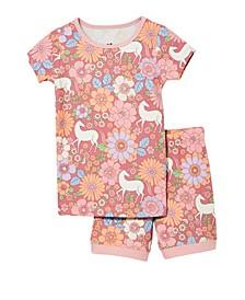 Toddler Girls Nikki Shorts Sleeve Pajama, Set of 2