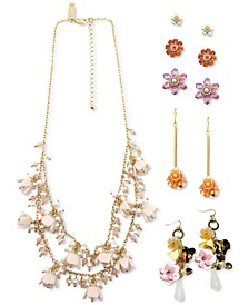 INC Gold-Tone Adorned Flower Jewelry Collection, Created for Macy's