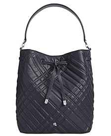 Debby Plaid Quilted Drawstring Bag