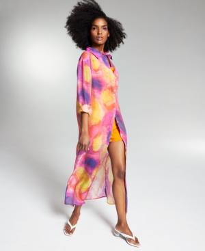 Zerina Akers Tie-Dyed Shirtdress