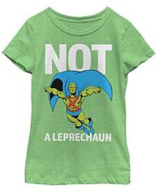 Big Girls Justice League Martian Leprechaun Short Sleeve T-shirt