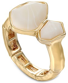 Gold-Tone Double Stone Stretch Ring, Created for Macy's