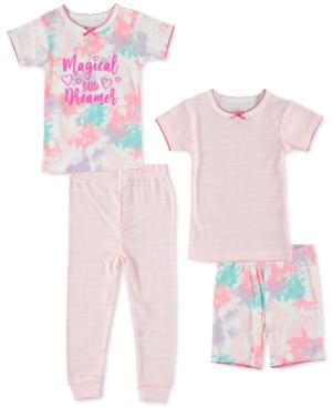 Cutie Pie Baby Baby Girls 4-pc. Printed Cotton Pajamas Set In Pink