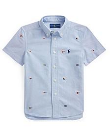 Little Boys Nautical Flag Oxford Shirt