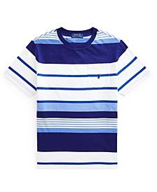 Big Boys Striped Jersey Pocket T-shirt