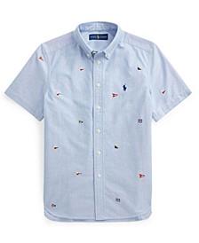 Big Boys Nautical Flag Oxford Shirt