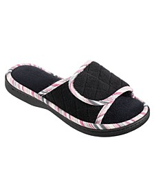 Women's Diamond Quilted Mandy Adjustable Slide Slipper