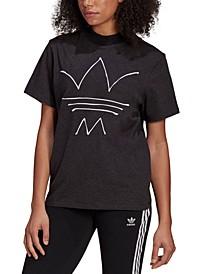 Women's Cotton Mock-Neck T-Shirt