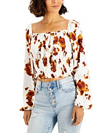 Smocked Tie-Dyed Top, Created for Macy's