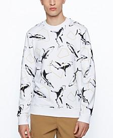 BOSS Men's Regular-Fit French-Terry Sweatshirt