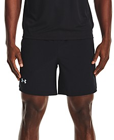 """Men's Launch 4-Way Stretch Moisture-Wicking Taped 7"""" Drawstring Shorts"""