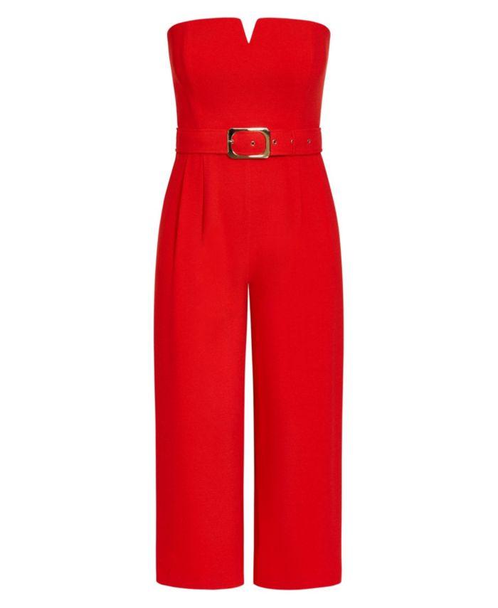 City Chic Plus Size Seduce Jumpsuit & Reviews - Women - Macy's