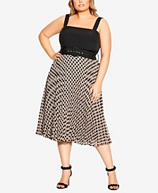 Plus Size Spot Gloria Dress