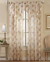 CLOSEOUT! CHF Sheer Waterlily Scroll Window Treatment Collection