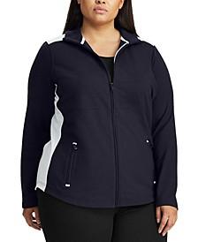 Plus-Size Cotton-Blend Jacket