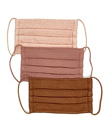 Dusty Rose Cotton Face Mask, 3 Pack