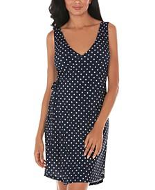 Polka-Dot Cover-Up Wrap Dress