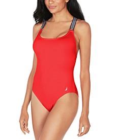 Cross-Back One-Piece Swimsuit