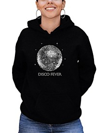 Women's Word Art Disco Ball Hooded Sweatshirt