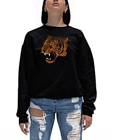 Women's Word Art Beast Mode Crewneck Sweatshirt