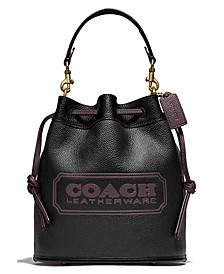 Field Bucket Bag In Colorblock Leather With Coach Badge