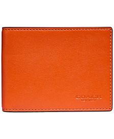 Men's Slim Billfold Wallet in Colorblock Leather