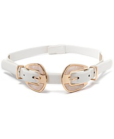 Double Buckle Stretch Belt, Created for Macy's