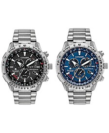 Eco-Drive Men's Chronograph Promaster Air Titanium Bracelet Watch Collection
