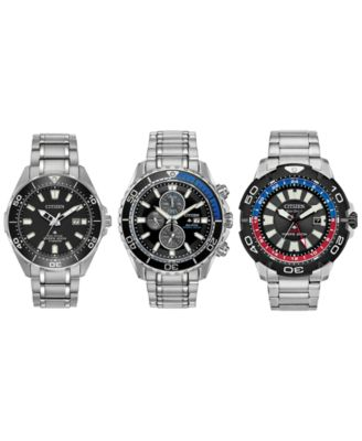 Eco-Drive Men's Promaster GMT Diver Stainless Steel Bracelet Watch 44mm