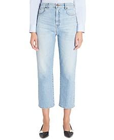 Risorsa Straight-Leg Cropped Denim Jeans