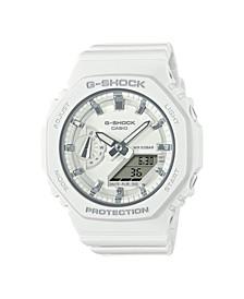 Women's Analog-Digital White Resin Strap Watch 43mm