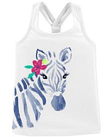 Baby Girls Zebra Racerback Tank