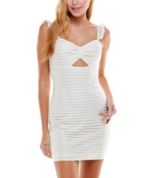 Juniors' Damask-Striped Bodycon Dress