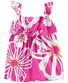 Baby Girls Tropical Jersey Dress