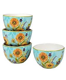 Sun Garden Set of 4 Ice Cream Bowl